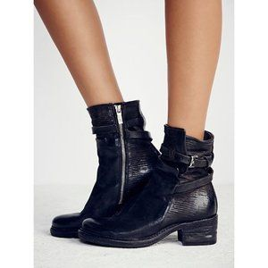 Free People A.s.98 Netta Ankle Boot in Black